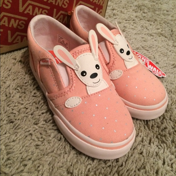 ee3d84f330d Vans Bunny slip on shoes-Easter